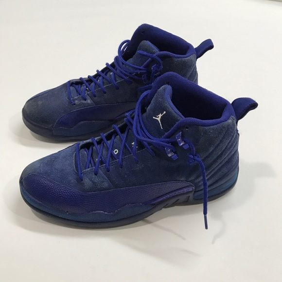 9707a50681a6 Nike Air Jordan 12 XII Retro Deep Royal Blue Suede.  M 5b69ecb81e2d2d465856a522